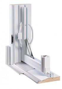 Détail système porte patio