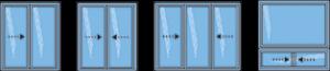 Modèles de fenêtres coulissantes