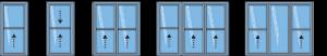 Modèles de fenêtres à guillotine