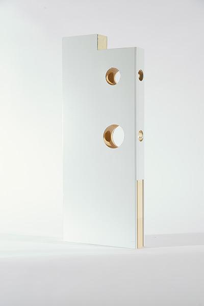 Détail de la composition interne des portes d'acier