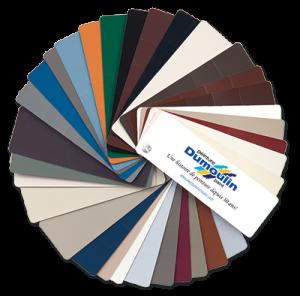 Charte de couleurs pour les portes et fenêtres