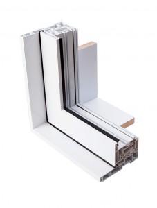 Détail du volet contemporain des fenêtres Millena