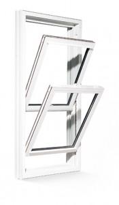 Fenêtre à guillotine double