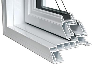 Détail de la confection multichambre des fenêtres