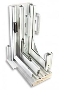 Détail porte patio en aluminium
