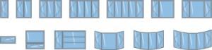 Différents modèles de fenêtres offerts