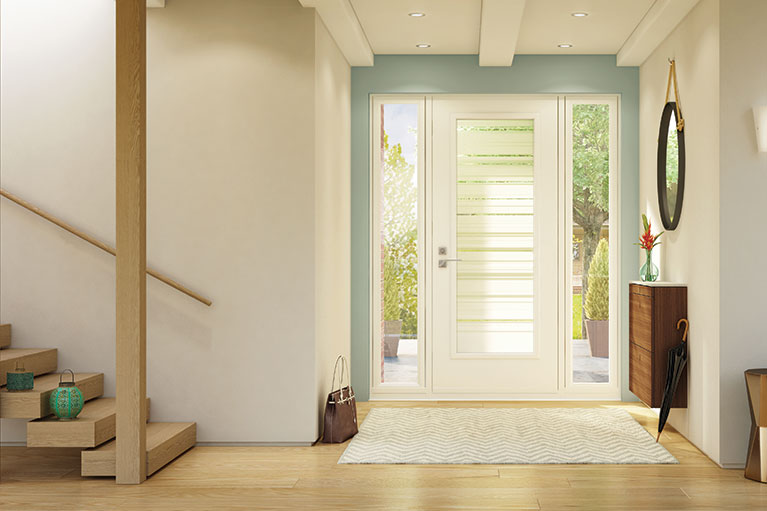 Exemple de porte installée à Sherbrooke